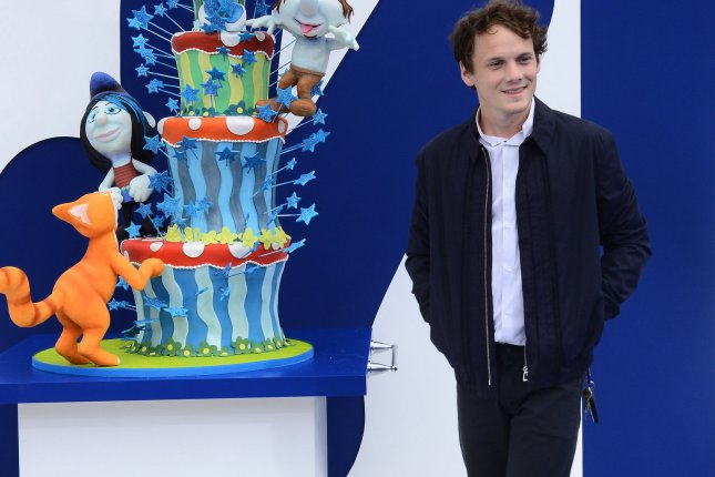 Actor Anton Yelchin, the voice of Clumsy Smurf in the motion picture animated comedy The Smurfs 2, attends the premiere of the film in Los Angeles on July 28, 2013. File photo by Jim Ruymen/UPI