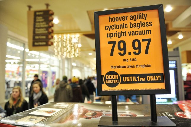 Retail sales in the United States rose by 0.5 percent last month -- a boost greater than that expected by many analysts. File Photo by Brian Kersey/UPI