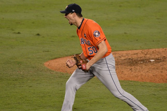 Houston Astros pitcher Charlie Morton is headed to the disabled list Photo by Jim Ruymen/UPI