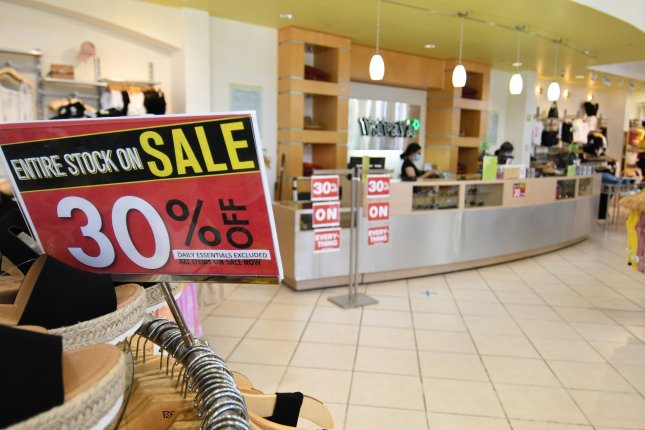 Government figures Thursday showed an increase in retail sales in June, but experts say they don't yet reflect a recent downturn in states that have seen rises in coronavirus cases. File Photo by Ian Halperin/UPI