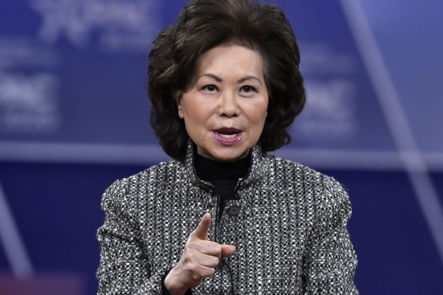 The Department of Transportation Office of Inspector General found former Transporation Secretary Elaine Chao violated ethics codes by using her office to promote her family's business.File Photo by Mike Theiler/UPI