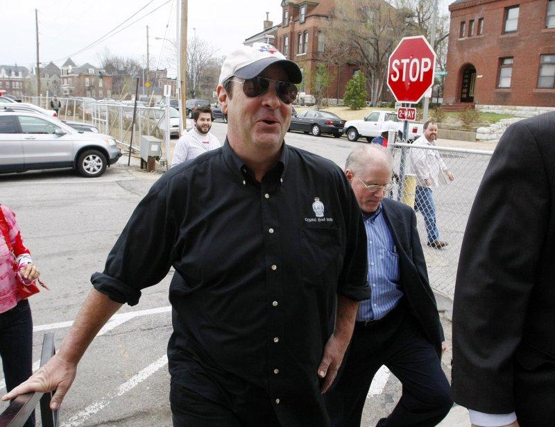 Actor Dan Aykroyd arrives at Randalls Liquors to promote his new wine in St. Louis on March 18, 2009. (UPI Photo/Bill Greenblatt)