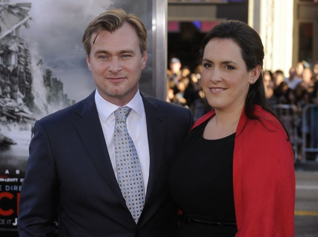 Director Christopher Nolan (L) and wife Emma Thomas attend the premiere of the film Inception in Los Angeles on July 13, 2010. UPI Photo/ Phil McCarten