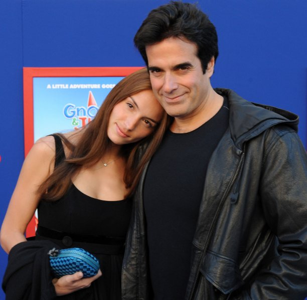 Magician David Copperfield and a guest attend the premiere of the animated 3D comedy motion picture Gnomeo & Juliet, at the El Capitan Theatre in the Hollywood section of Los Angeles on January 23, 2011. UPI/Jim Ruymen