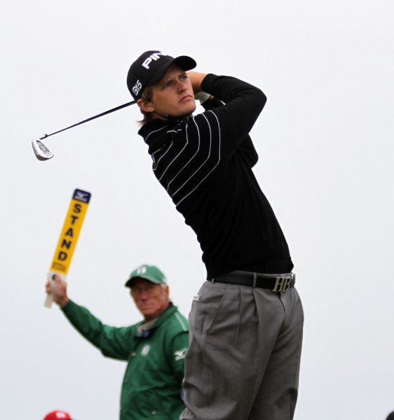 Tom Lewis, shown in a 2011 file photo, owns the lead after the first round of the European Tour's Lyoness Open in Austria. UPI/Hugo Philpott