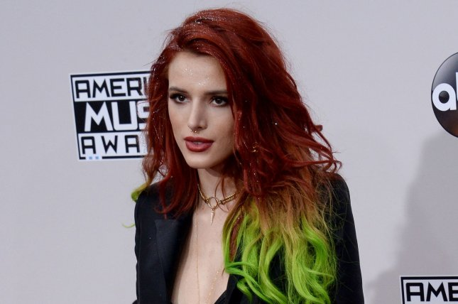 Bella Thorne confirmed she called it quits with her girlfriend, Tana Mongeau, after a year of dating. File Photo by Jim Ruymen/UPI