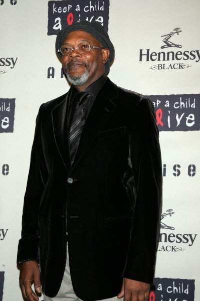 Samuel L. Jackson arrives at the Keep a Child Alive's 6th Annual Black Ball at the Hammerstein Ballroom in New York on October 15, 2009. UPI /Laura Cavanaugh