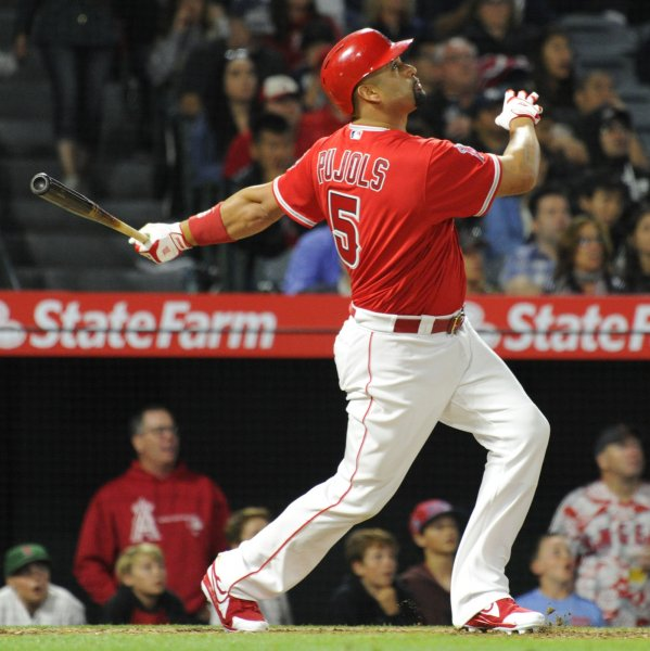 Albert Pujols and the Los Angeles Angels face the Baltimore Orioles on Thursday. Photo by Lori Shepler/UPI
