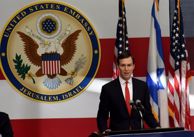 Senior adviser to U.S. President Trump Jared Kushner said the Trump administration will release is Israeli-Palestinian peace plan soon, while questioning Palestinian Authority President Mahmoud Abbas' willingness to accept a deal seeking compromise from both sides. File photo by Debbie Hill/UPI
