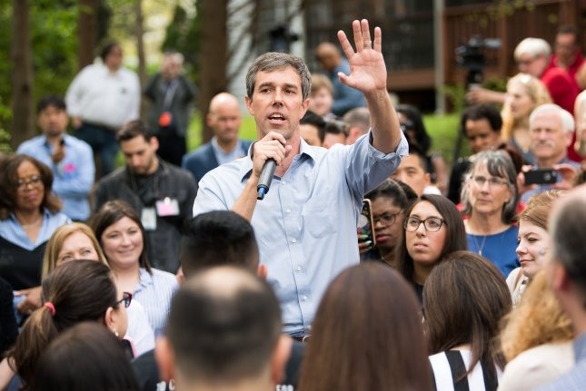 Democratic hopeful Beto O'Rourke detailed his four-point plan, which calls for $5 trillion to fight climate change. File Photo by Kevin Dietsch/UPI