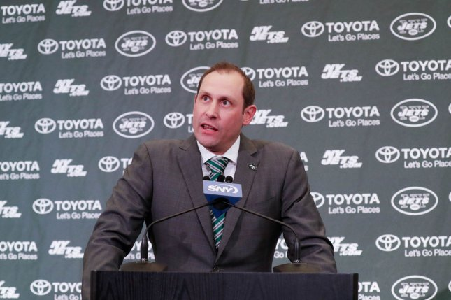 New York Jets coach Adam Gase is now the team's acting general manager after the AFC East franchise fired Mike Maccagnan. File Photo by John Angelillo/UPI