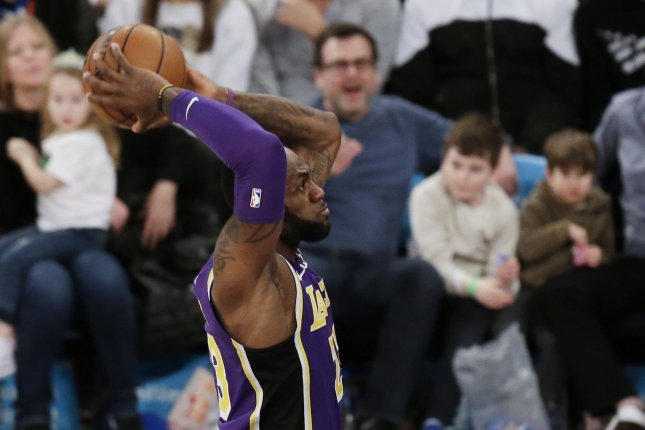 Los Angeles Lakers star LeBron James and the new-look Clippers will play at Staples Center on Dec. 25. File Photo by John Angelillo/UPI