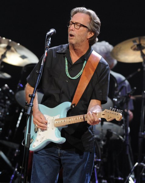 British singer/guitarist Eric Clapton performs at Royal Albert Hall in London on May 26, 2011. The rocker turns 75 on March 30. File Photo by Rune Hellestad/UPI