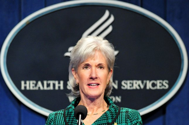 HHS Secretary Kathleen Sebelius speaks at a news conference about health care innovation under the Affordable Care Act in Washington on November 14, 2011. UPI/Kevin Dietsch