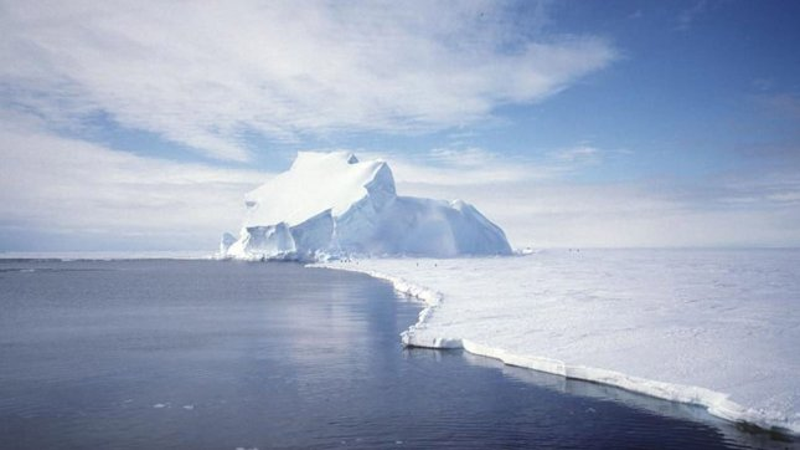 The Riiser-Larsen ice shelf in Antarctica. (UPI Photo/NASA/GRACE team/DLR/Ben Holt Sr.)