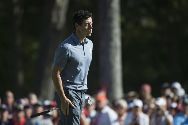Rory McIlroy was knocked out of the World Golf Championships Match Play on Thursday after Gary Woodland pulled out of the event at windy Austin Country Club before their match because of a family emergency. File Photo by Kevin Dietsch/UPI