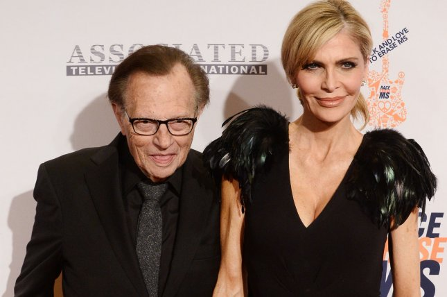 Larry King (L) and Shawn King (R) attend the 23rd annual Race To Erase MS gala on April 15, 2016. King has unveiled that he recently underwent treatment for lung cancer. File Photo by Jim Ruymen/UPI
