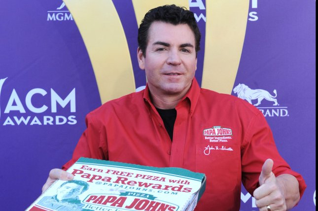 Former Papa John's Pizza CEO John Schnatter resigned as company chairman over his use of a racial slur during a conference call earlier this year. File Photo by Jim Ruymen/UPI