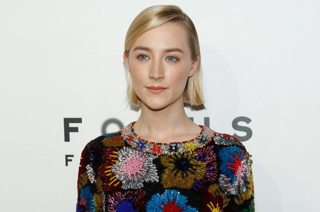 Saoirse Ronan attends the Focus Features luncheon at CinemaCon on April 25. File Photo by James Atoa/UPI