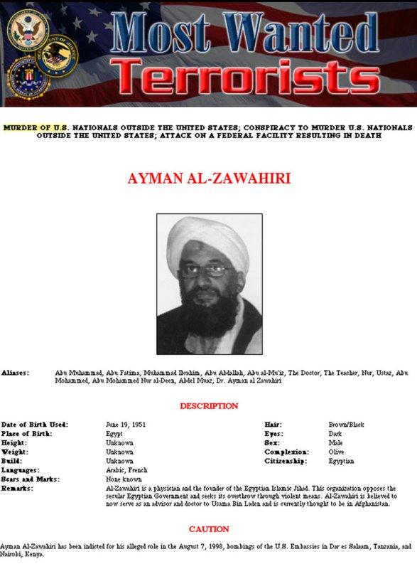 Zawahiri 'can't just talk about terror' - UPI com