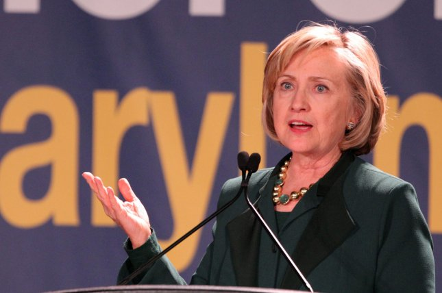 Hillary Clinton called for a reevaluation of the United States' criminal justice system in the wake of recent protests against police. File photo by A.J. Sisco/UPI