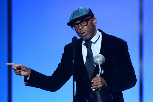 Film Director Spike Lee accepts the President's Award onstage during the 46th NAACP Image Awards at the Pasadena Civic Auditorium in Pasadena, California on February 6, 2015. Lee will direct Amazon Studios' first production, now with the working title Chi-Raq. Photo by Jim Ruymen/UPI