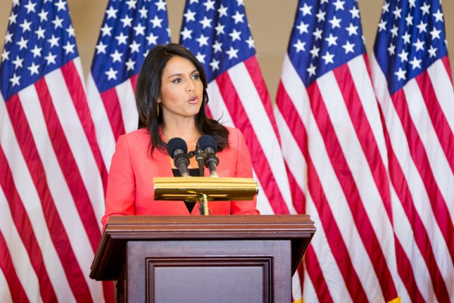 Rep. Tulsi Gabbard, D-Hawaii, is suing Google over allegations that it targeted her advertising account right after the first presidential debate. Photo by Erin Schaff/UPI