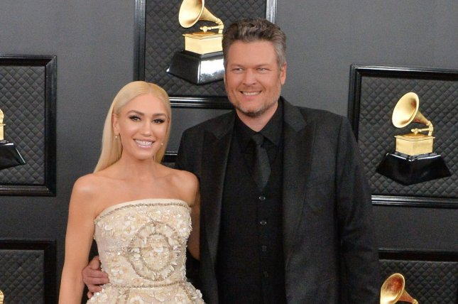 Gwen Stefani (L) confirmed her marriage to Blake Shelton following news Today host Carson Daly officiated the wedding. File Photo by Jim Ruymen/UPI