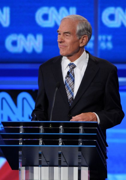 Republican presidential candidate Ron Paul speaks during the Tea Party Republican Debate held at the Florida State Fairgrounds, in Tampa, Florida on September 12, 2011. UPI/Christina Mendenhall