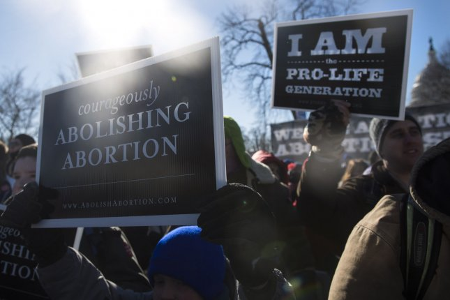 According to the Guttmacher Institute, the drop in the abortion rate in 2011 predates several states attempts to curb access to abortions. UPI/Kevin Dietsch