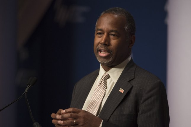 Republican presidential candidate Ben Carson lost two top campaign staffers Thursday. Photo by Molly Riley/UPI