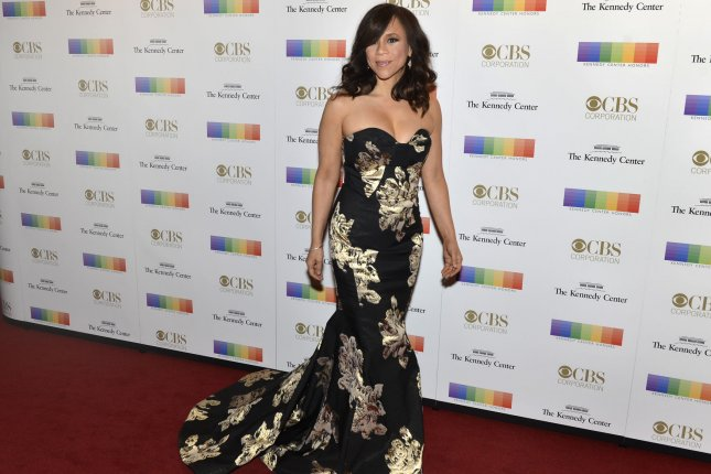 Search Party actress Rosie Perez arrives at the Kennedy Center for an evening of gala entertainment to honor the Kennedy Center Honorees, December 6, 2015, in Washington, DC. File Photo by Mike Theiler/UPI