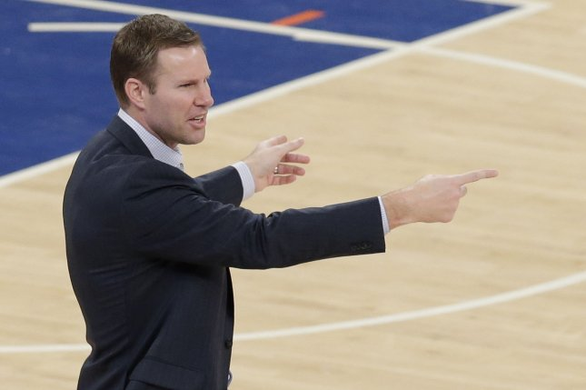Chicago Bulls head coach Fred Hoiberg. Photo by John Angelillo/UPI