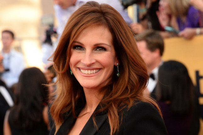 Julia Roberts arrives for the 21st annual SAG Awards on January 25, 2015. The actress is set to partake in a special episode of Running Wild with Bear Grylls for Red Nose Day for NBC. Other stars set to appear during the programming block include Ben Affleck, Mark Hamill and the cast of Love Actually among others. File Photo by Jim Ruymen/UPI