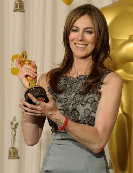 Kathryn Bigelow, director for the film The Hurt Locker, appears backstage with her Oscar at the 82nd annual Academy Awards in Hollywood on March 7, 2010. File Photo by Jim Ruymen/UPI