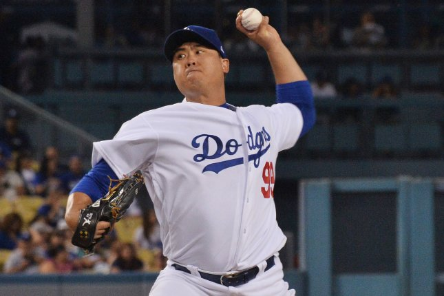 Hyun-Jin Ryu and the Los Angeles Dodgers face the San Francisco Giants on Friday. Photo by Jim Ruymen/UPI