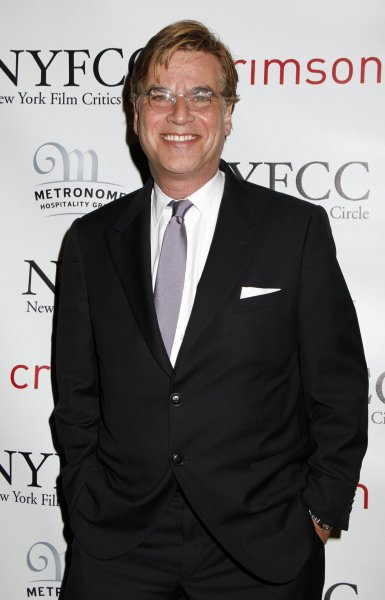 Aaron Sorkin arrives for the New York Film Critics Cicle Awards at the Crimson Club in New York on January 9, 2012. UPI /Laura Cavanaugh