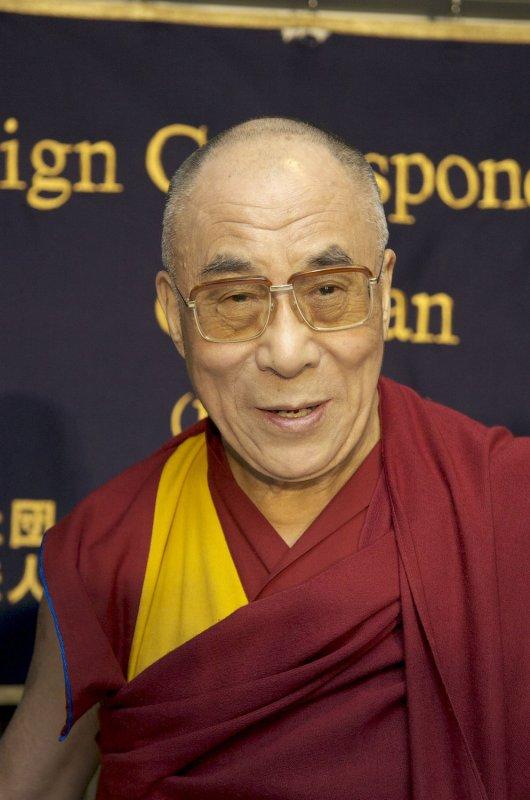 The Dalai Lama, shown in Tokyo Nov. 3, 2008. (UPI Photo/Keizo Mori)
