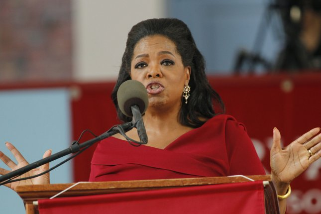 Oprah Winfrey addresses the graduates of Harvard University at The Annual Meeting of the Harvard Alumni Association in Tercentenary Theatre at Harvard University in Cambridge, Massachusetts on May 30, 2013. UPI/Matthew Healey