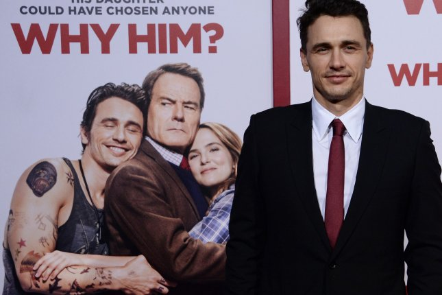 Cast member James Franco attends the premiere of Why Him? in Los Angeles on December 17, 2016. The actor's HBO show The Deuce has been renewed for a second season. File Photo by Jim Ruymen/UPI