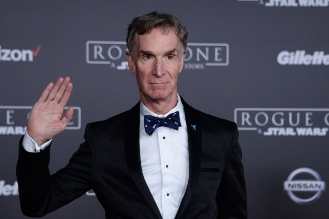 Science educator Bill Nye attends the premiere of Rogue One: A Star Wars Story in Los Angeles in 2016. File Photo by Jim Ruymen/UPI