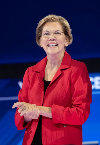 Democratic presidential candidate Sen. Elizabeth Warren, D-Mass., said her Medicare for All plan wouldn't tax the middle class. File Photo by Kevin Dietsch/UPI