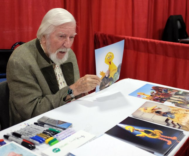 Puppeteer Caroll Spinney died Sunday at the age of 85. File Photo by Gary I Rothstein/UPI