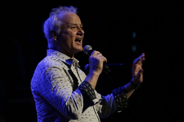 Bill Murray speaks between performances at God's Love We Deliver's Love Rocks NYC! Benefit Concert at the Beacon Theatre in New York City on March 9, 2017. The actor turns 70 on September 21. File Photo by John Angelillo/UPI