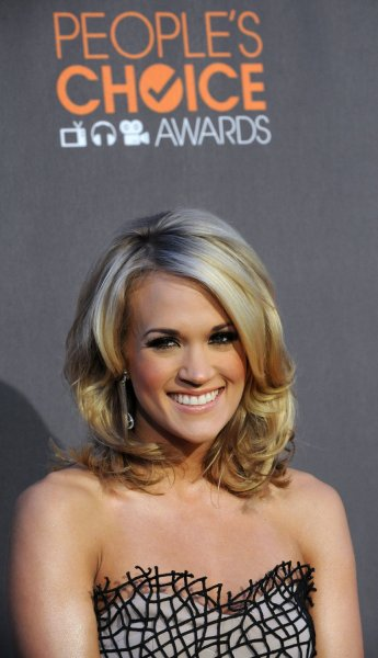 Singer Carrie Underwood attends the 2010 People's Choice Awards at Nokia Theatre in Los Angeles on January 6, 2010. UPI/Jim Ruymen