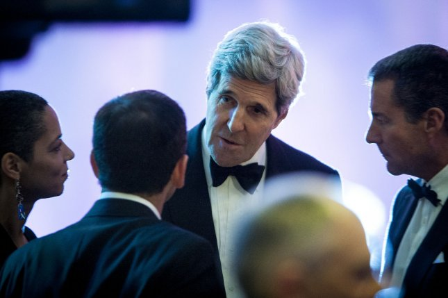 U.S. Secretary of State John Kerry at a State Dinner in honor of French President François Hollande in Washington, Feb. 11, 2014. UPI/Pete Marovich/Pool