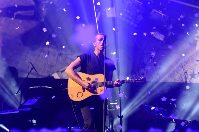 Chris Martin of the British rock band Coldplay performs live during BBC Radio 1's Big Weekend in Glasgow on May 24, 2014. UPI/Paul Treadway