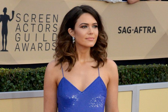 Mandy Moore arrives for the the 24th annual SAG Awards held at the Shrine Auditorium in Los Angeles on January 21. The actor turns 34 on April 10. File Photo by Jim Ruymen/UPI