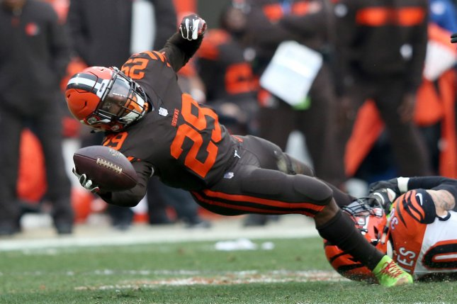 Former Cleveland Browns running back Duke Johnson had a career-high 1,041 yards and seven touchdowns in 16 games during his 2017 campaign. File Photo by Aaron Josefczyk/UPI