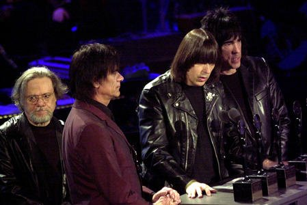 Rock 'n' Roll High School, featuring The Ramones, is on Blu-ray November 19, 2019. Here, The Ramones thank the Rock and Roll Hall of Fame committee for their induction into the Hall of Fame. File Photo by rw/ep/Ezio Petersen/UPI